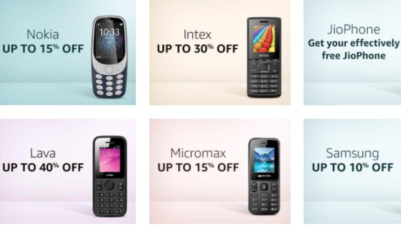 Amazon Feature Phones Fest: सस्ते में खरीदें Jio Phone, Nokia 3310 और ये फीचर फोन