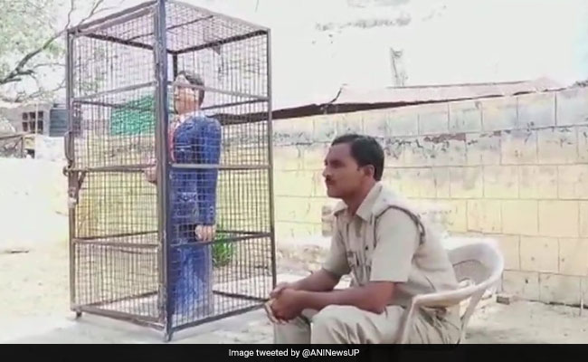 Now, A Statue Of BR Ambedkar Found Locked In Iron Cage In UP