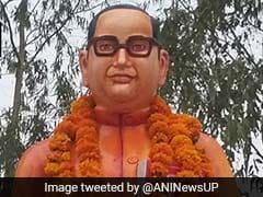 'காவி'க்கு மாறிய அம்பேத்கர்.. உ.பி.யில் பரபரப்பு