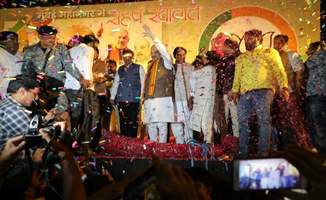 Opposition parties joining hands fearing Modi: Amit Shah