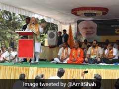 """At Karnataka Rally, Amit Shah Says, Congress """"Dividing The Country"""""""