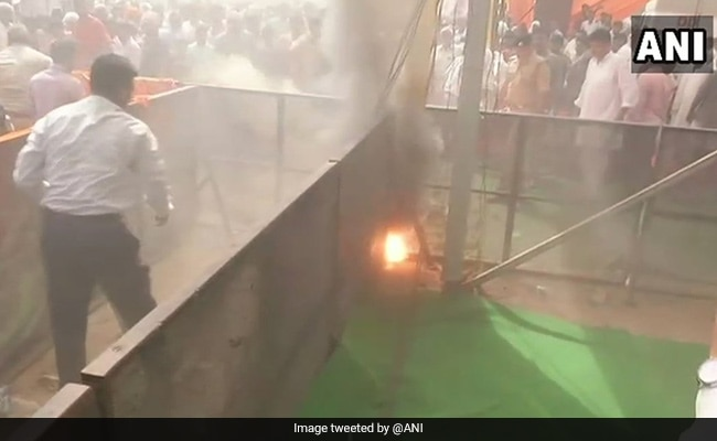 Fire Breaks Out At Amit Shah's Uttar Pradesh Meeting Venue In Rae Bareli