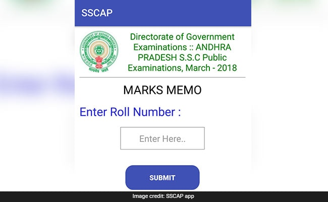 ap ssc result 2018 on app