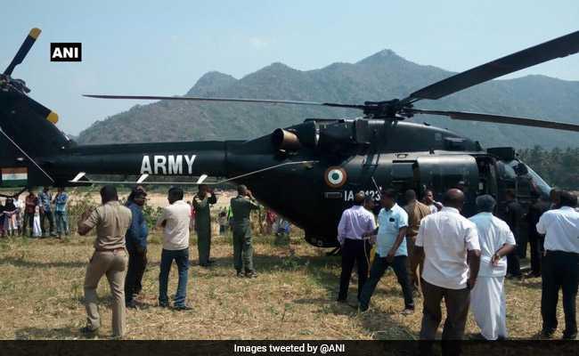 सेना के हेलीकॉप्टर के इंजन में आई तकनीकी खराबी, कराई आपात लैंड़िंग