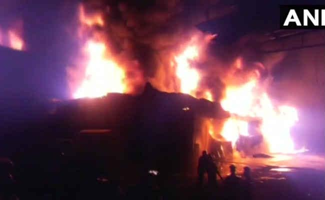 Huge Fire Breaks Out At Oil Godown In A Village In Maharashtra