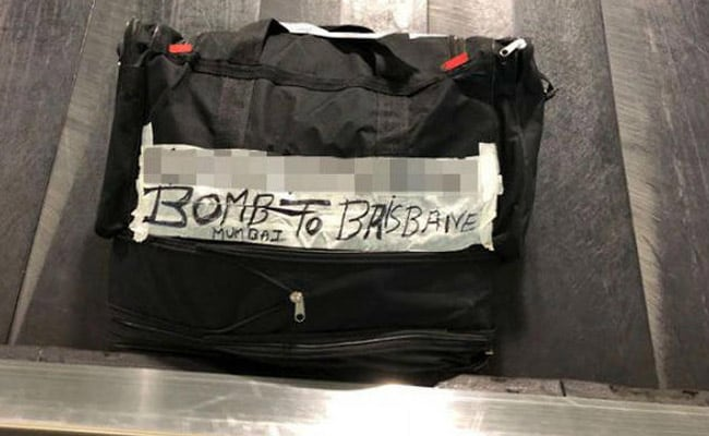 'Bomb To Brisbane' Read Label On Bag At Airport. Grandma Meant Bombay