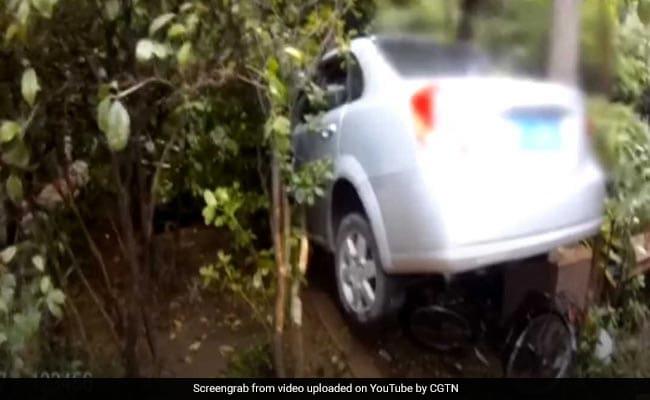 Watch: Drunk Driver Loses Control, Rams Car Into School Wall