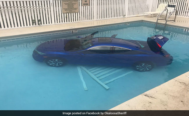 Swimming pool inside car