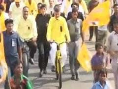Chandrababu Naidu Hops On Bicycle To Demand Special Status For Andhra Pradesh
