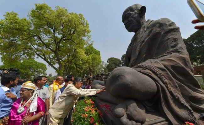 chandrababu naidu gandhi statue parliament pti 650