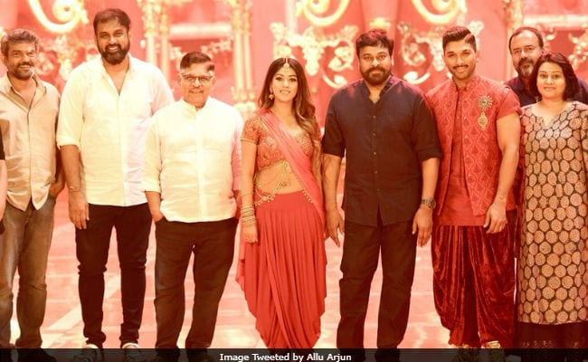 When Chiranjeevi Stopped By Allu Arjun's Naa Peru, Surya Naa Illu India Sets, This Happened