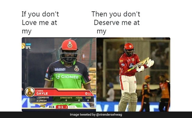 Virender Sehwag's 'If You Don't Love Me' Meme On Chris Gayle Is On Point