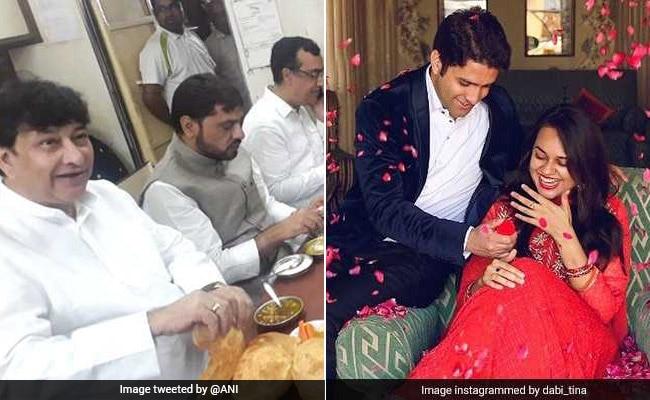 उपवास से पहले कांग्रेस नेताओं ने की पेटपूजा, शादी के बंधन में बंधीं UPSC टॉपर टीना डाबी, पढ़ें दिन भर की 5 बड़ी खबरें