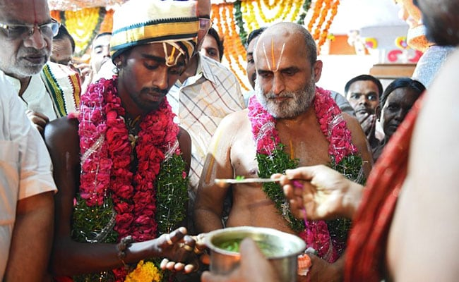 dalit devotee priest hyderabad afp 650 2