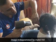 Post CSK Win, MS Dhoni Back To Daddy Duty. Does Daughter Ziva's Hair In Adorable Video