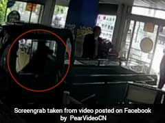Three-Wheeler Crashes Into Store In China. A Dog Was Behind The Wheel