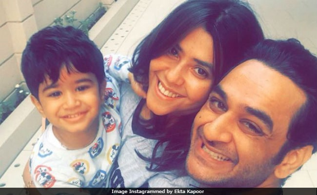 Ekta Kapoor Shared A Cute Picture With Nephew Laksshay And Vikas Gupta