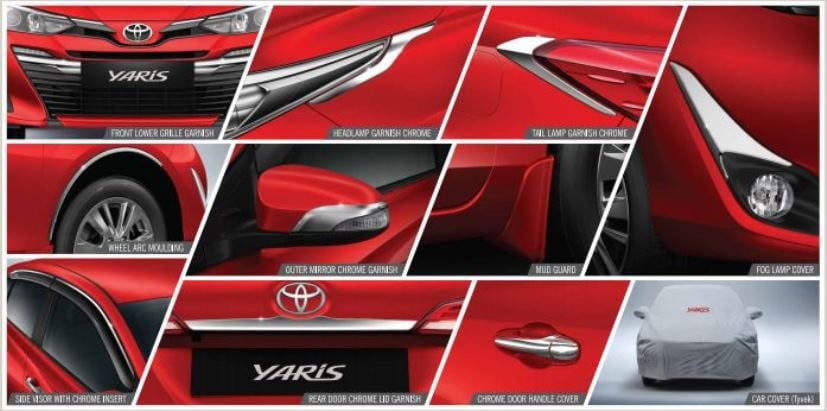 exterior accessories for the yaris