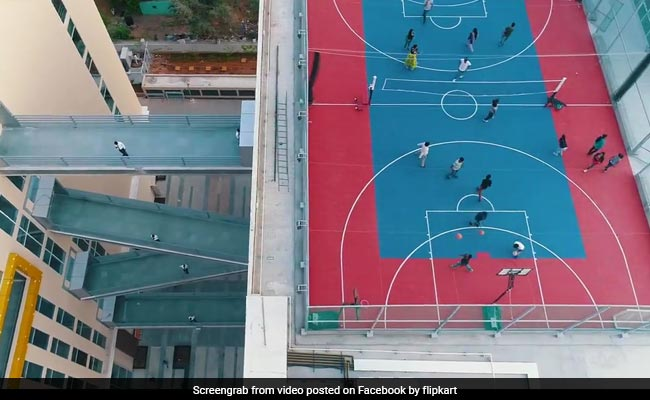 flipkart office basketball court facebook