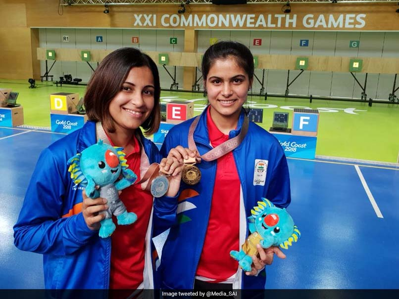 Commonwealth Games 2018: Manu Bhaker, 16, Shatters Games Record To Clinch Gold, Heena Sidhu Bags Silver