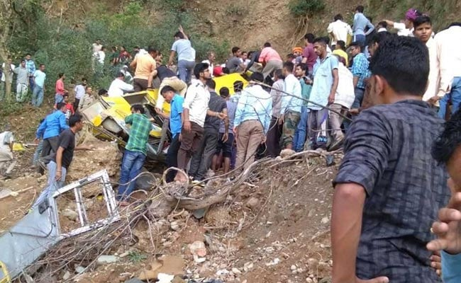 Kangra officials described a horrific scene in the moments after the crash