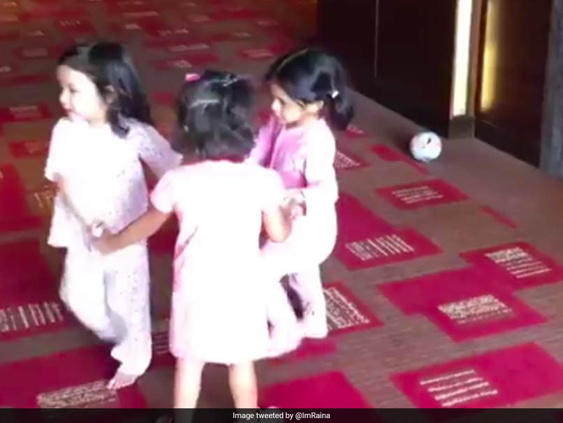 Daughters of MS Dhoni, Harbhajan Singh, Suresh Raina have a ball