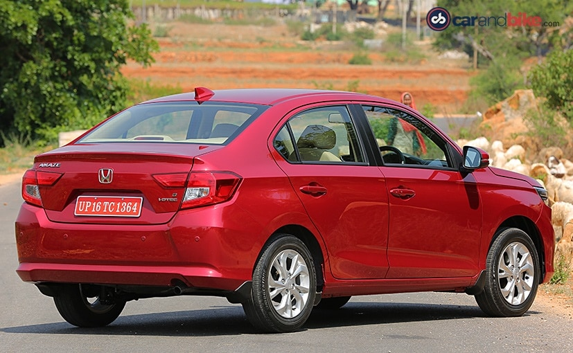 honda amaze gets a new rear design