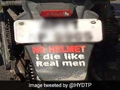 Hyderabad Traffic Cops Hilariously Troll Biker Photographed Without Helmet