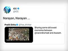 ICC Tweets 'Narayan, Narayan' On Viral Video Of PM Narendra Modi And Asaram, Later Apologises