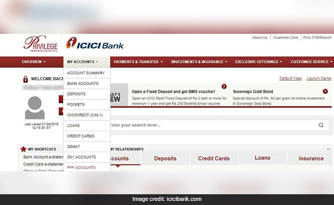 icici bank ppf account bank website