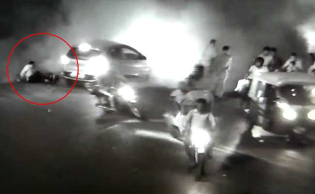 indore building collapse cctv footage