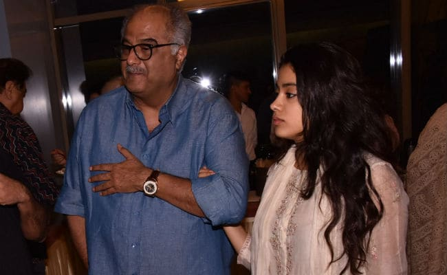 Janhvi And Boney Kapoor Are Ishaan Khatter's Special Guests At Beyond The Clouds Screening