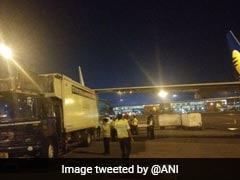 Wing Of Jet Airways Plane Grazes Catering Van At Delhi Airport