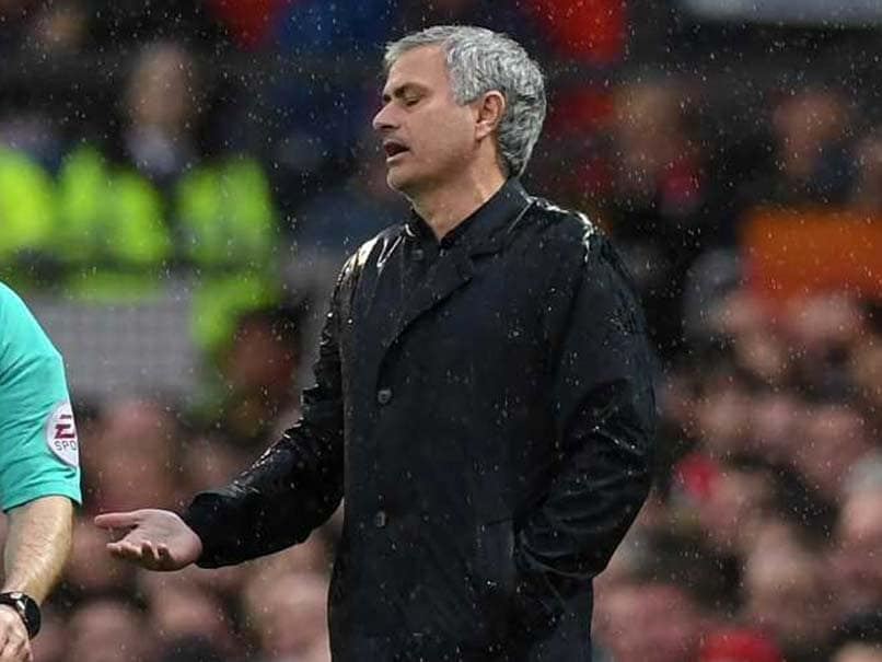 Manchester United's Mourinho reacts to Man City title