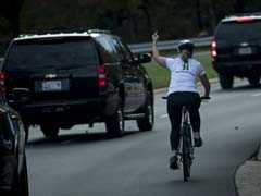 Fired For Showing Trump Middle Finger, Cyclist Now Sues Ex-Employer