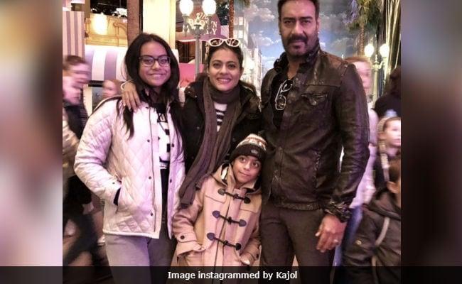Kajol, Ajay Devgn and Their Children Say 'Au Revoir' To Paris