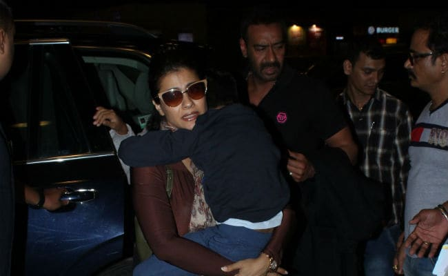 Kajol And Ajay Devgn Fly Out Of Mumbai With Kids On Actor's Birthday. See Pics