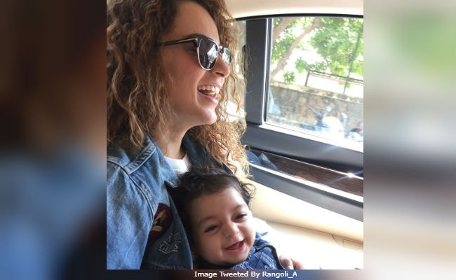 Kangana Ranaut And Nephew Prithvi Raj 'On A Sunshine Day.' See Adorable Pic