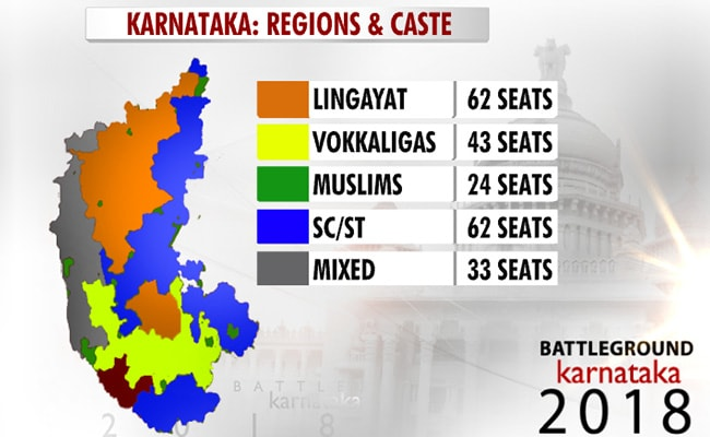karnataka caste region map
