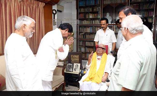 Telangana Chief Minister K Chandrasekhar Rao Meets M Karunanidhi, M K Stalin In Chennai, Hold Talks on State Autonomy, Development