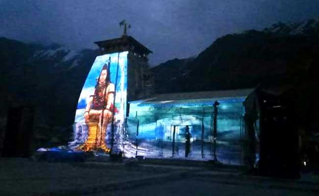 For Kedarnath Pilgrims, A Lord Shiva Laser Show Set Against The Himalayas