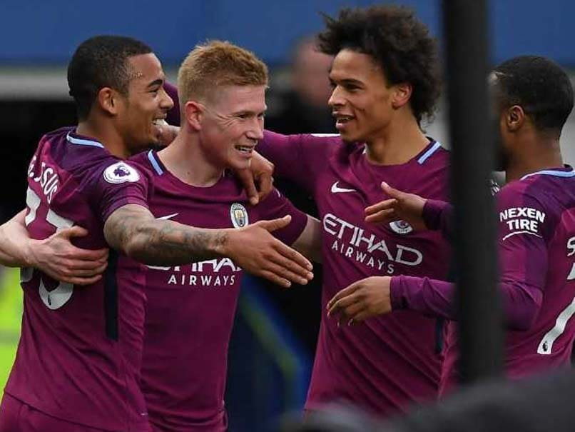 Premier League: Manchester City Down Everton, On Brink Of Title Glory