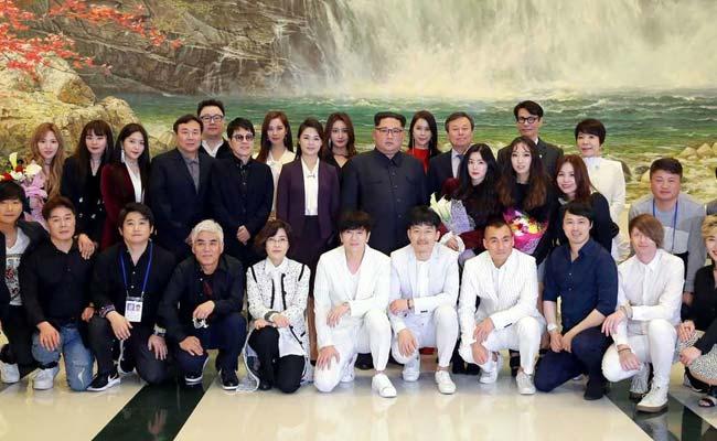 Kim Jong Un, In A First, Attends Concert By South Korean Pop Stars