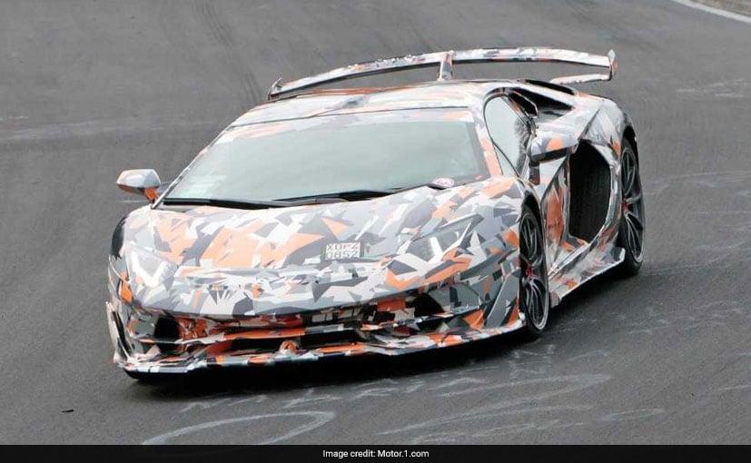 Lamborghini Aventador SVJ Spotted Testing At Nurburgring