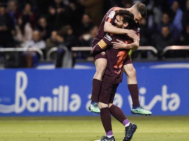 Lionel Messi Hat-Trick Seals Barcelonas 25th La Liga Title In Style