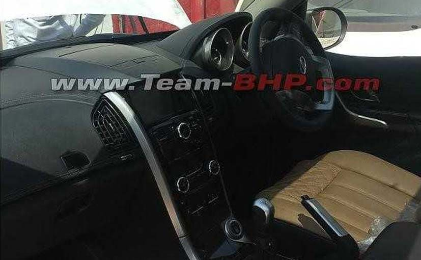 The interior of the Mahindra XUV500 facelift have been spied