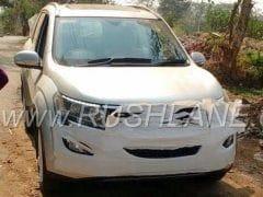 Mahindra XUV500 Facelift Spotted At Dealership Yard