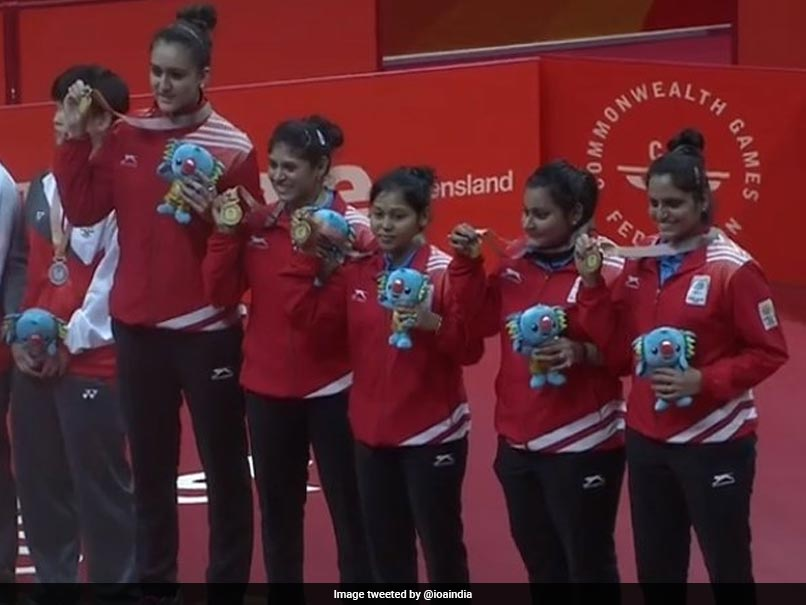 Commonwealth Games 2018: India Womens Table Tennis Team Wins Maiden Gold