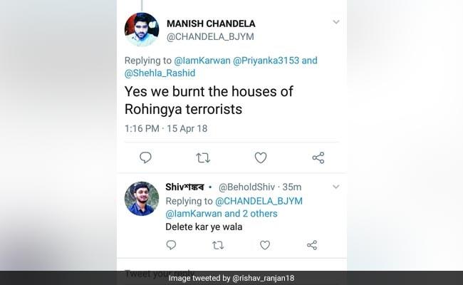 manish chandela rohingya tweet