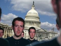 'Fix Fakebook': Activists Plant 100 Life-Size Mark Zuckerberg Cutouts On Capitol Lawn